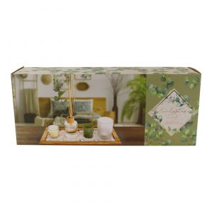 Eucalyptus Diffuser and Candle Gift Set