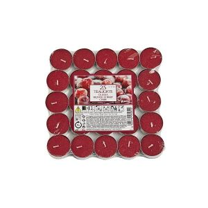 Pack of 25 Aladino Frosted Cherry Tealights