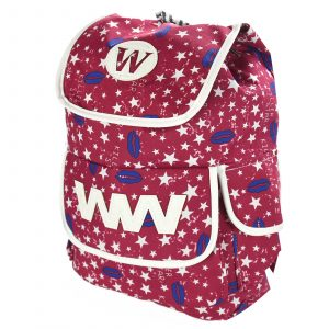 Red Backpack with Stars