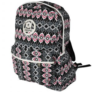 Backpack in Squares and Diamond Pattern