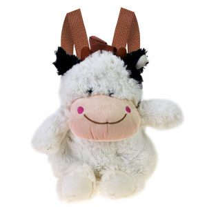 Kids Cow Rucksack Backpack Plush Cute Zoo Toy Lunch Bags For Children Toddler